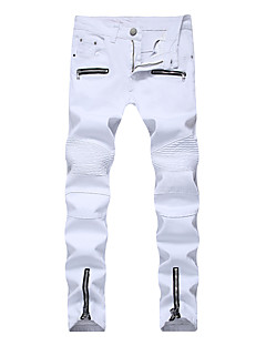 billige Herrebukser og -shorts-Herre Store størrelser Bomull Tynn Chinos Jeans Bukser Ensfarget