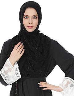 baratos Cachecóis da Moda-Mulheres Básico Poliéster, Hijab - Camadas Estampado