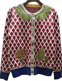 tanie Swetry damskie-Damskie Moda miejska Rozpinany Geometryczny