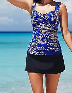 billige Bikinier og damemote 2017-Dame Store størrelser Bohem Stroppeløs Bikinikjole - Trykt mønster Geometrisk