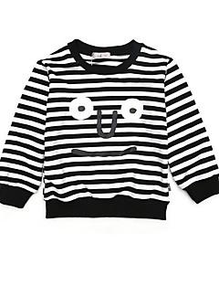 tanie Odzież dla chłopców-Dla chłopców Codzienny Prążki Bluza z kapturem / bluza, Poliester Wiosna Lato Długi rękaw Moda miejska Black