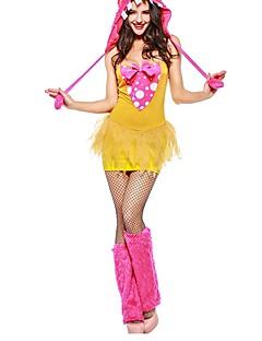 billige Halloweenkostymer-Superhelter Trollmann/heks Halloween Karneval Bursdag Oktoberfest Festival / høytid Halloween-kostymer Gul Fargeblokk Vampyrer Dyr