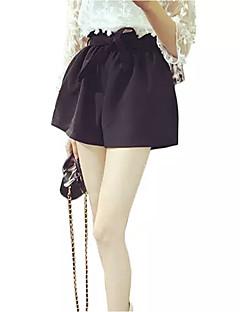 tanie Odzież dla dziewczynek-Szorty Specjalne rodzaje skóry Dla dziewczynek Codzienny Jendolity kolor Wiosna Lato Na co dzień Black