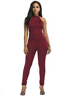 billige Jumpsuits og sparkebukser til damer-Dame Store størrelser Ut på byen / Klubb Bomull Body - Helfarge, Uthult Grime / Sommer