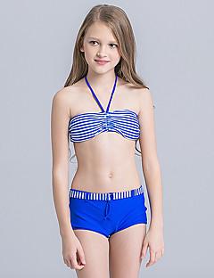 billige Badetøj til piger-Pige Sødt Aktiv Trykt mønster Badetøj, Nylon Uden ærmer Blå