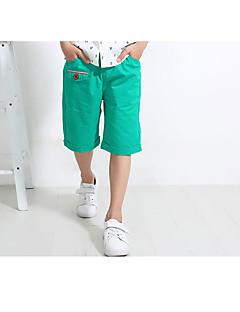 billige Drengebukser-Drenge Shorts Daglig Ensfarvet, Bomuld Hør Bambus Fiber Akryl Forår Uden ærmer Simple Vintage Grøn