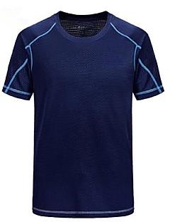 baratos Camisetas para Trilhas-Homens Camiseta de Trilha Ao ar livre Secagem Rápida Respirabilidade Leve Camiseta Acampar e Caminhar Multi-Esporte Moto Sertão
