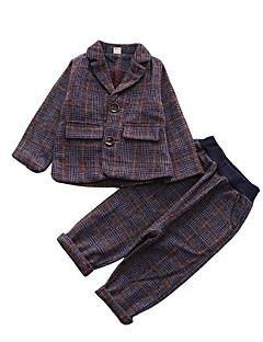 tanie Odzież dla dziewczynek-Garnitur / marynarka Poliester Dla chłopców Codzienny Prążki Wiosna Długi rękaw Vintage Purple