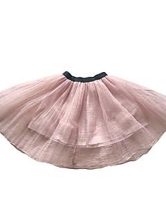 billige Pigenederdele-Pige Nederdel Daglig Blomstret, Polyester Forår Vintage Lyserød