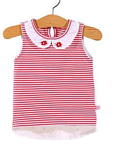 tanie Odzież dla dziewczynek-Dla dziewczynek Codzienny Prążki Tanktop / koszulka na ramiączkach, Poliester Wiosna Lato Bez rękawów Moda miejska Czerwony Blushing Pink