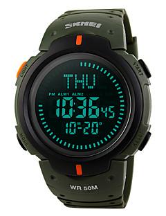 billige Digitalure-SKMEI Herre Digital Militærur Sportsur Alarm Kalender Vandafvisende Stopur Kompas Gummi Bånd Afslappet Sej Grøn