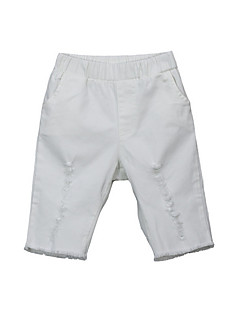 tanie Odzież dla dziewczynek-Szorty Bawełna Dla dziewczynek Codzienny Urlop Jendolity kolor Lato Prosty Aktywny White