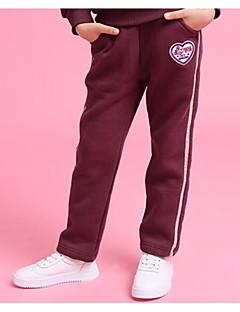 billige Bukser og leggings til piger-Pige Bukser Daglig Ensfarvet, Bomuld Hør Bambus Fiber Akryl Forår Uden ærmer Simple Blå Vin