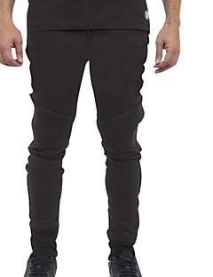 billige Herrebukser og -shorts-Herre Aktiv Skinny Bukser Ensfarget
