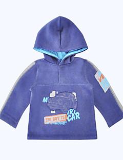 billige Hættetrøjer og sweatshirts til piger-Unisex Hættetrøje og sweatshirt Daglig Sport Ensfarvet, Bomuld Forår Efterår Langærmet Afslappet Blå