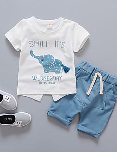 levne Chlapecké oblečení-Toddler Chlapecké Tisk Krátký rukáv Sady oblečení