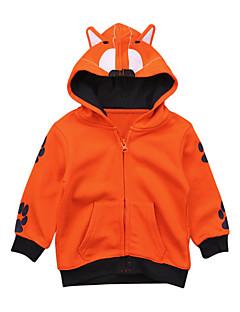 billige Jakker og frakker til drenge-Drenge Daglig Geometrisk Jakkesæt og blazer, Bomuld Polyester Spandex Forår Efterår Langærmet Aktiv Orange