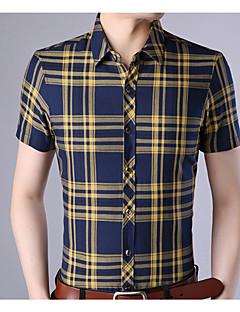 billige Herremote og klær-Skjorte Herre - Ruter, Trykt mønster Forretning
