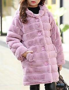 tanie Odzież dla dziewczynek-Odzież puchowa / pikowana Bawełna Dla dziewczynek Jendolity kolor Zima Długi rękaw Blushing Pink Gray