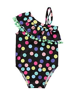 tanie Odzież dla dziewczynek-Dla dziewczynek Boho Groszki Stroje kąpielowe, Rayon Bez rękawów Light Green