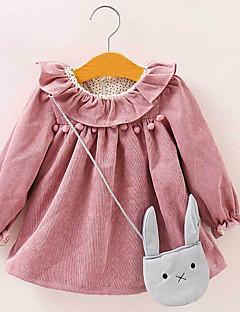 tanie Odzież dla dziewczynek-Dla dziewczynek Codzienny Prążki Koszula, Poliester Lato Długi rękaw Urocza Czerwony Blushing Pink Jasnoniebieski