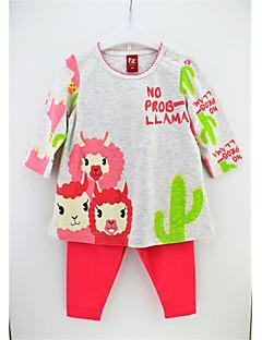 billige Tøjsæt til piger-Pige Blomstret Langærmet Tøjsæt