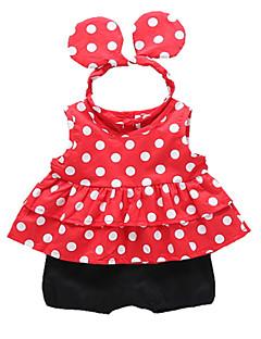 billige Babytøj-Baby Pige Afslappet Prikker Uden ærmer Tøjsæt