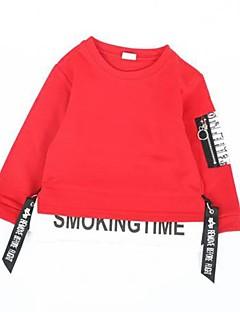 billige Overdele til drenge-Baby Drenge Aktiv Farveblok Langærmet Bomuld Hættetrøje og sweatshirt