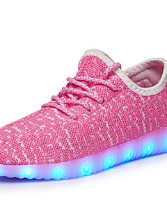 cheap -Boys' Shoes Tulle Fall Light Up Shoes Athletic Shoes Walking Shoes LED for Blue / Green / Pink / Rubber