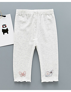 billige Babytøj-baby daglig jacquardbukser, polyester street chic lysegrøn gul lilla grå hvid 80 110 100 90
