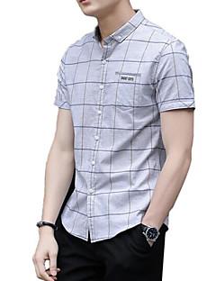 billige Herremote og klær-Skjorte Herre - Ruter, Trykt mønster Grunnleggende