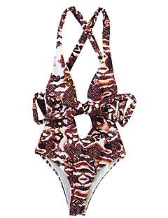 billige Bikinier og damemote 2017-Dame En del - Åpen rygg Blondér, Cheeky Dyr