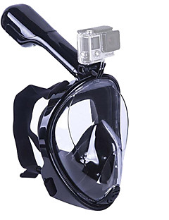 cheap Surfing, Diving & Snorkeling-Diving Mask / Snorkel Mask Anti Fog, Full Face Mask, Underwater Single Window - Swimming, Diving Silicone - for Adults / Kids Green / Blue / Pink / 180 Degree View / Leak-Proof
