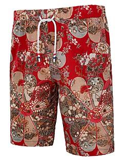 billige Herrebukser og -shorts-Herre Grunnleggende Chinoiserie Shorts Chinos Bukser Geometrisk