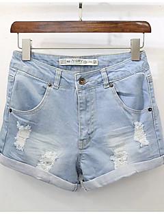 billige Udsalg-Dame Grunnleggende Jeans Bukser Ensfarget