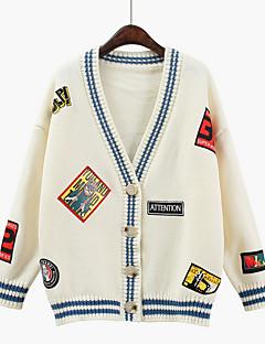 tanie Swetry damskie-Damskie Podstawowy Rozpinany Geometryczny