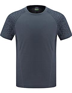 baratos Camisetas para Trilhas-Homens Camiseta de Trilha Ao ar livre Verão Secagem Rápida, Respirabilidade, Redutor de Suor Camiseta N / D Acampar e Caminhar, Exercicio Exterior, Multi-Esporte Preto Azul Cinzento