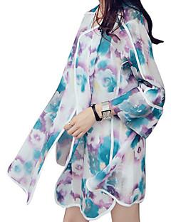 billige Bluse-Dame - Blomstret Basale Bluse