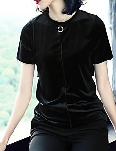 Χαμηλού Κόστους Lace up Tops-Γυναικεία T-shirt Αργίες Βίντατζ / Ενεργό Μονόχρωμο Δαντέλα