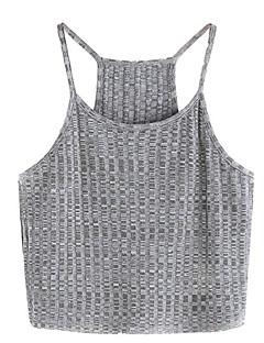 billige Tanktoppe & små toppe til kvinder-Med stropper Dame - Ensfarvet Bomuld Basale Tank Tops