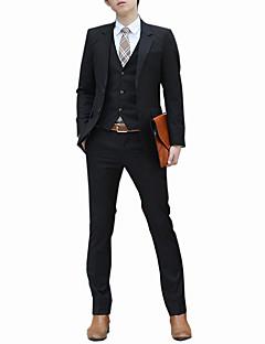 baratos Roupa de Moda de Homem-Homens Ternos / Conjuntos Sólido Delgado / Manga Longa / Trabalho