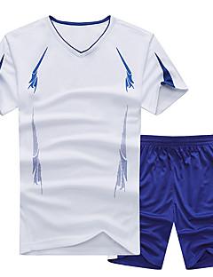 baratos Camisetas para Trilhas-Homens activewear Set Ao ar livre Secagem Rápida, Respirabilidade, Redutor de Suor Camiseta N / D Acampar e Caminhar / Exercicio Exterior / Multi-Esporte