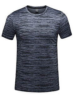 baratos Camisetas para Trilhas-Homens Camiseta de Trilha Ao ar livre Secagem Rápida Redutor de Suor Respirabilidade Camiseta N/D Acampar e Caminhar Exercicio Exterior
