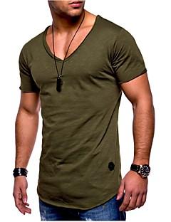 ieftine -Bărbați Mărime Plus Size Tricou Sport Bumbac De Bază - Mată / Manșon scurt / Vară / Zvelt