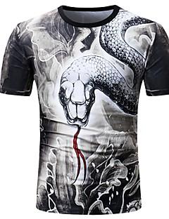 billige Herremote og klær-T-skjorte Herre - Dyr, Trykt mønster Grunnleggende