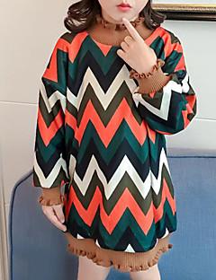 billige Hættetrøjer og sweatshirts til piger-Pige Hættetrøje og sweatshirt Bomuld Polyester Vinter Simple Brun Grøn