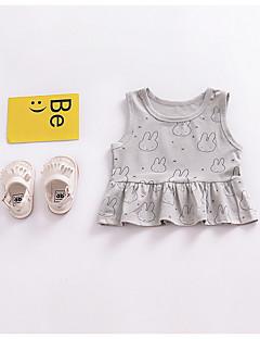 tanie Odzież dla dziewczynek-Dla dziewczynek Nadruk Tanktop / koszulka na ramiączkach, Bawełna Lato Gray