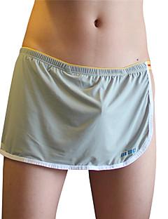 billige Herremote og klær-Herre Underbukse Boxer Ensfarget Stripet Mellomhøyt liv
