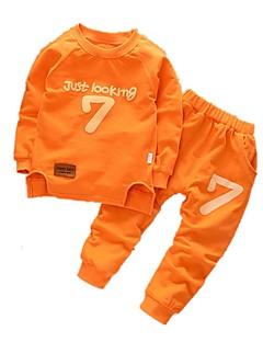 billige Tøjsæt til piger-Børn Unisex Trykt mønster Langærmet Tøjsæt