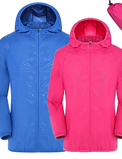 cheap Softshell, Fleece & Hiking Jackets-Unisex Hiking Jacket Outdoor Quick Dry Windproof UV resistant Breathability Lightweight Jacket SBS Zipper Camping / Hiking Outdoor